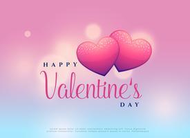 belle conception de la Saint-Valentin avec deux coeurs