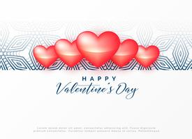 happy valentine's day decorative design
