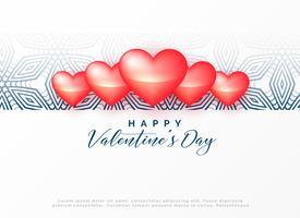 happy valentine's day decorative design