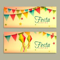 Banners do festival junina de festa