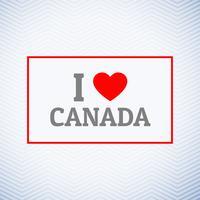 Ik hou van Canada achtergrond