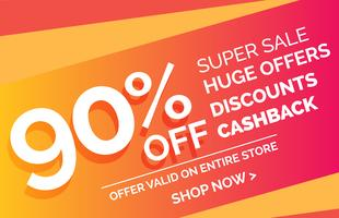 galen försäljning erbjuda rabatt banner voucher mall design