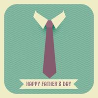 glücklicher Vatertag mit Krawatte und Kragen