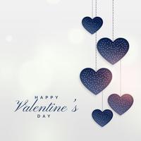 hängende Herzen für Valentinstaghintergrund