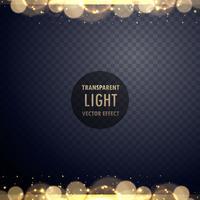 Efecto de luz bokeh dorado abstracto con destellos