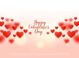 beautiful hearts background with bokeh effect