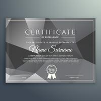 abstract gray black certificate template
