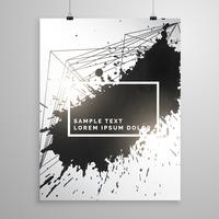 abstrakt svart bläck splatter poster broschyr mall