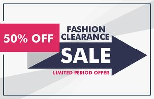 design di banner di vendita di moda con modello di freccia