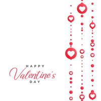 valentine's day illustration with hearts decoration