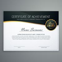 design de certificado com padrão de estilo de luxo. modelo de diploma