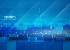 design de cartaz de vetor médico abstrato de saúde