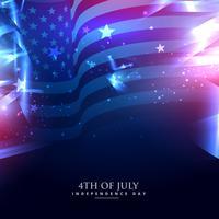 bandeira americana em abstrato
