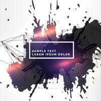Fondo de salpicaduras de tinta sucia con efecto de luz
