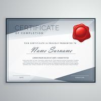 design moderno certificado com formas abstratas