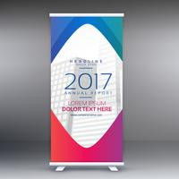 awesome roll up standee banner design template