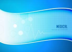 medizinischer Vektorhintergrund mit Herzschlaglinie
