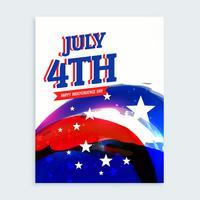 4. Juli Flyer zum Unabhängigkeitstag