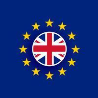 uk flag inside european union flag