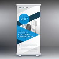 blue display roll up banner advertising poster