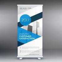 display azul arregaçar cartaz de publicidade de banner