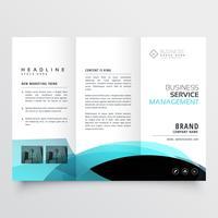 business trifold brochure template design