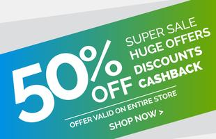 promotional sale banner vector design template