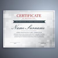 design elegante certificado com caixa de verificador branco e cinza