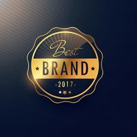 goldenes Abzeichen der besten Marke und Aufklebervektordesign