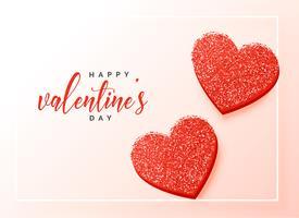 schöne Glitzerherzen zum Valentinstag