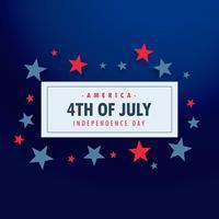 4 juli bakgrund med stjärnor