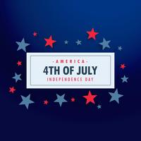 4th of july background with stars