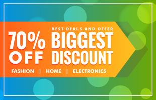 biggest sale discount banner deisgn template