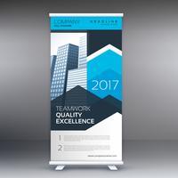 modern business roll up banner design template