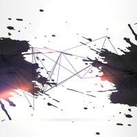 abstrakter schwarzer Tinte grunge Hintergrund