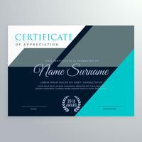 diseño elegante de la plantilla del certificado del aprecio