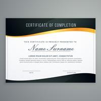 conception de certificat en illustration vectorielle muxury style moderne