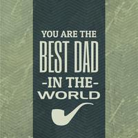 bester Vater im Welthintergrund