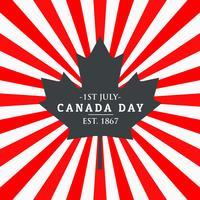 Kanada-Tagesgrußhintergrund