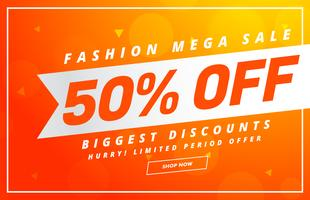 bright sale banner design vector template for your promotion