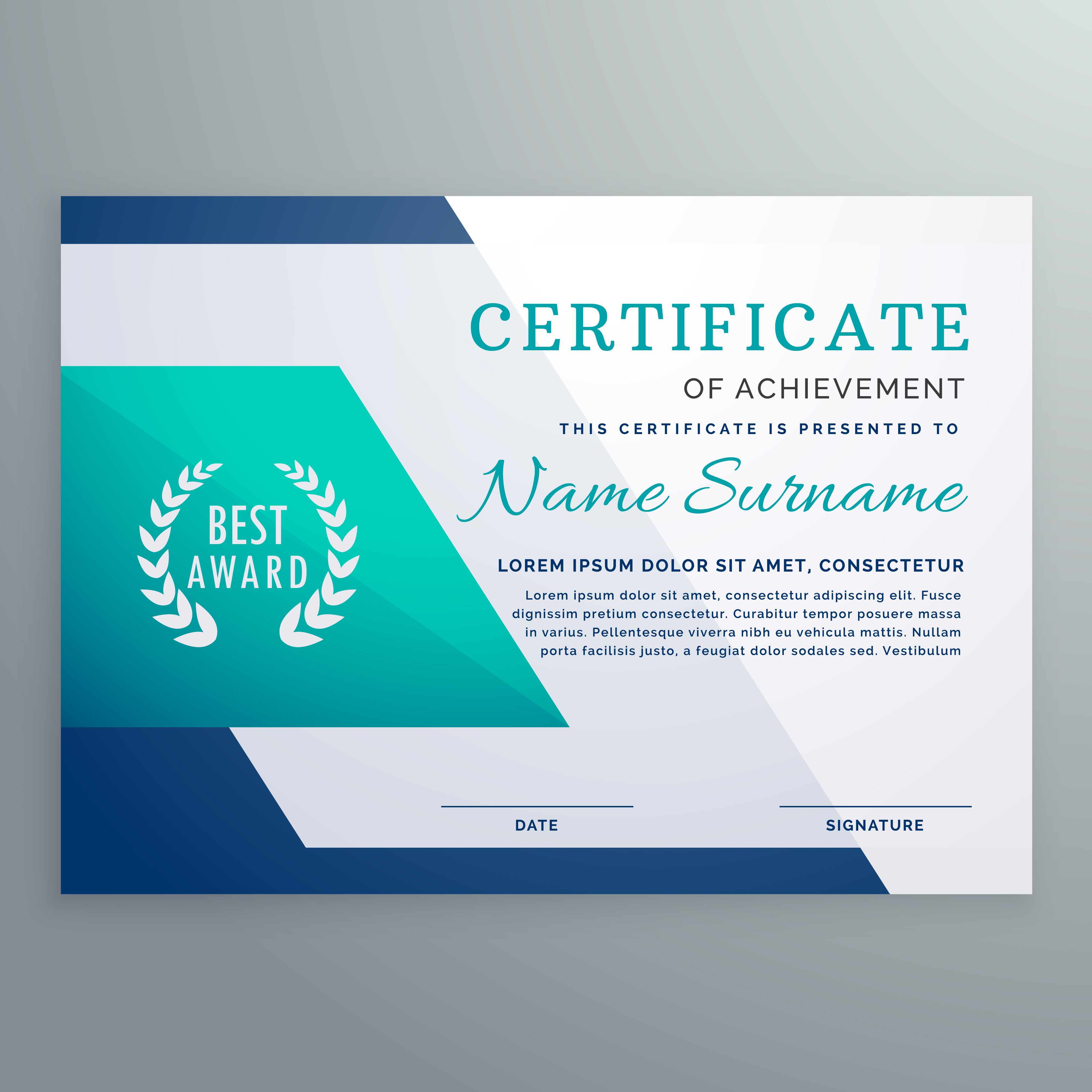 Blue certificate design template in geometric shape style blue certificate design template in geometric shape style download free vector art stock graphics images alramifo Images