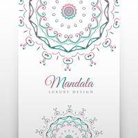 ethnic white background with mandala decoration