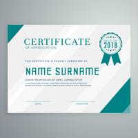 certificate award template with clean and modern pattern