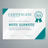 modelo de prêmio de certificado com padrão limpo e moderno