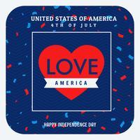 Liebe Amerika Feier Hintergrund