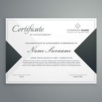 elegant certificate design or diploma template with geometric sh
