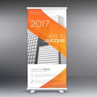abstrakt orange rulle upp banner standee vektor design