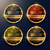 best quality guaranteed premium gold label and badges vector des