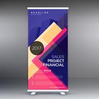färgglada standee rulla upp banner design mall