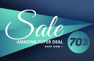 modern sale banner design with offer details
